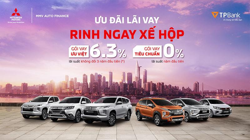 Hỗ trợ tài chính 0% cho khách hàng mua xe